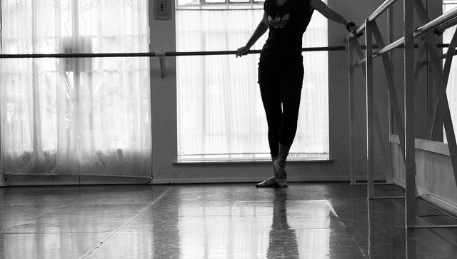 silhouette of dancer in the corner