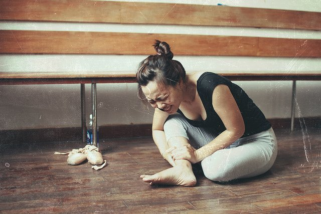 ballet dancer with injury