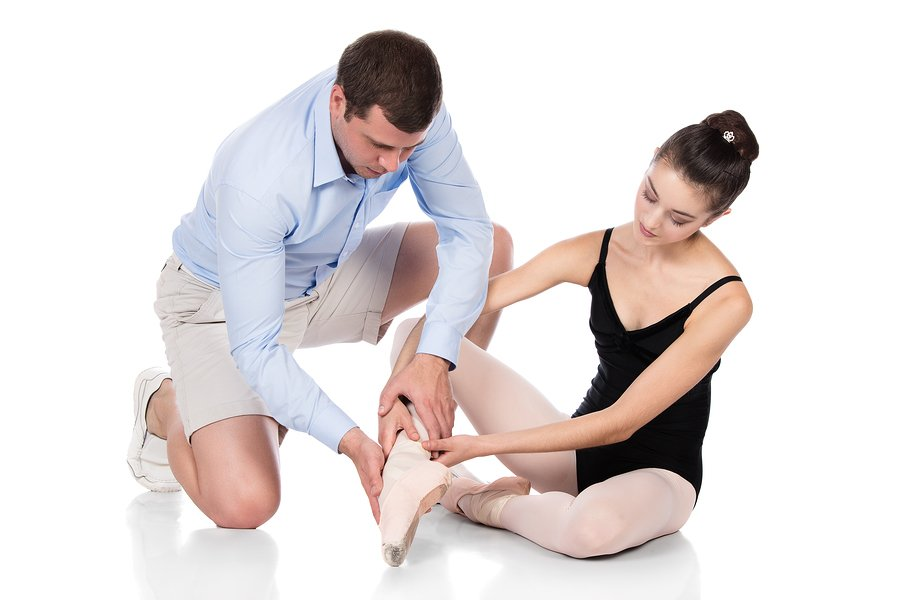 man professionall fitting ballet shoes