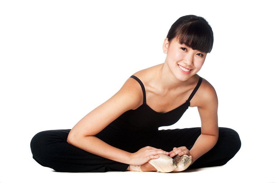 ballet dancer in butterfly position