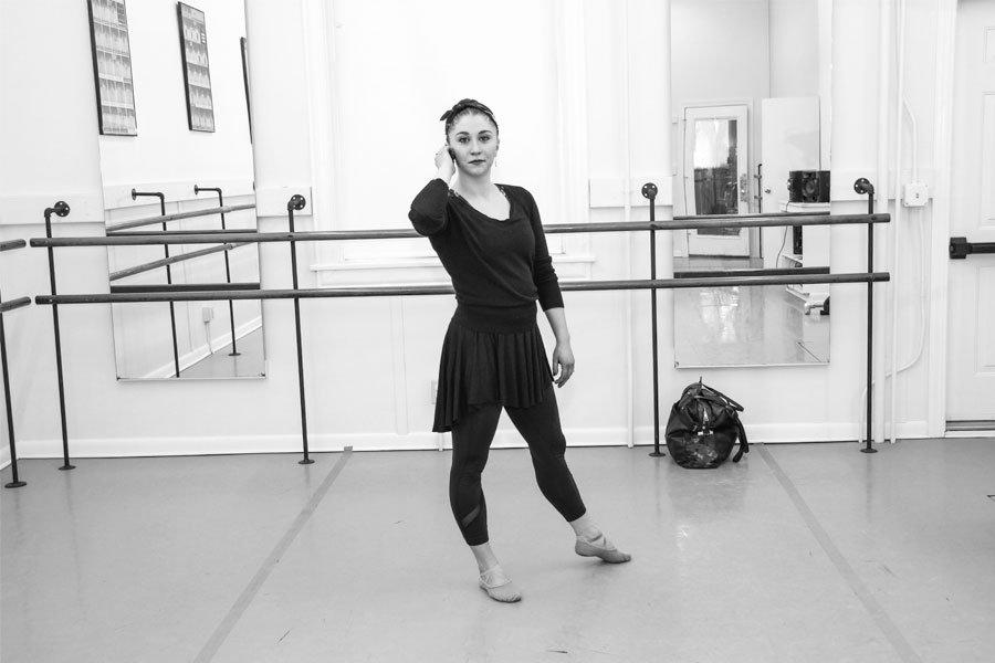 adult ballet dancer in the studio