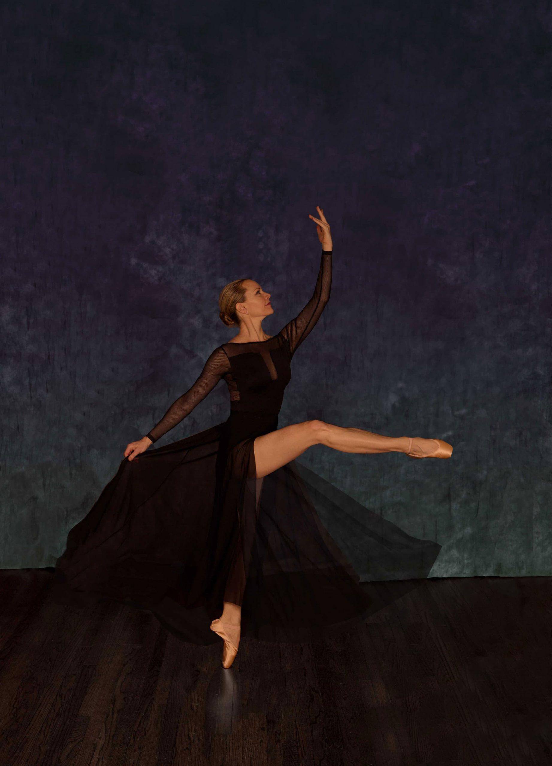 Nikki at 50 attitude ballet