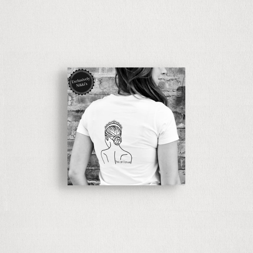the last dancer white t-shirt