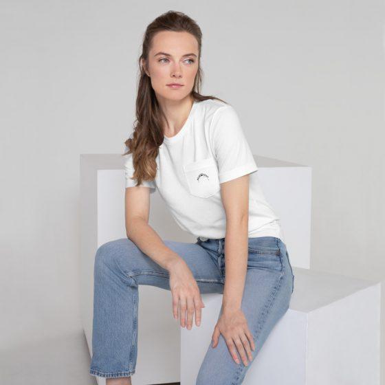 last dancer brand t-shirt white on model