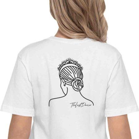 dancer-tiara-bun-white-t-shirt
