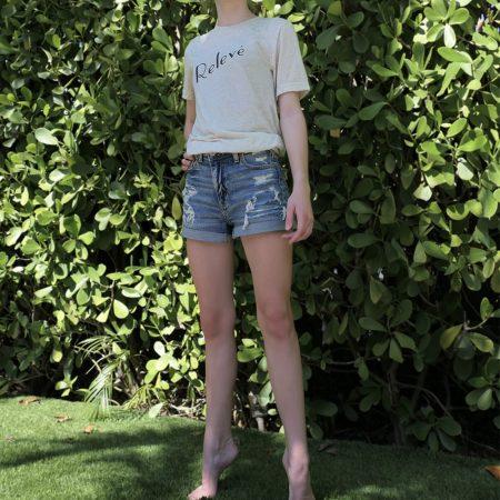 girl in releve tshirt