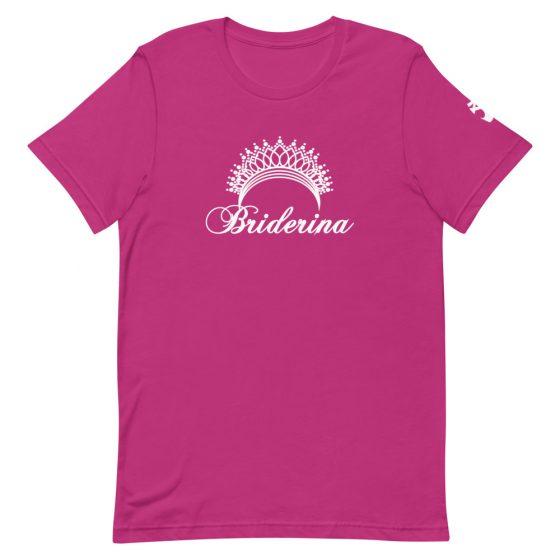 Briderina ballet bride t-shirt magenta