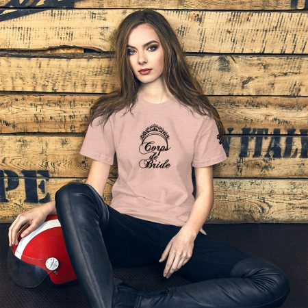 corps de ballet bridesmaid tee ballet pink on model