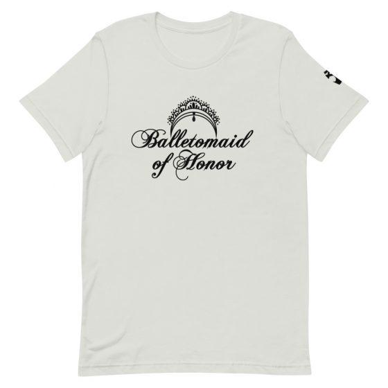 maid of honor tshirt balletomaid silver