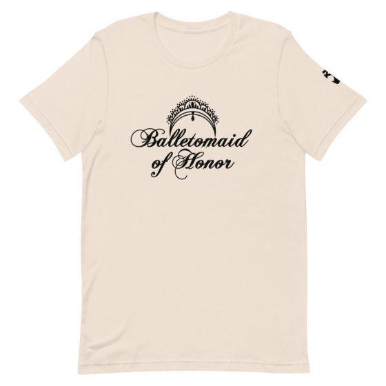 maid of honor tshirt balletomaid cream